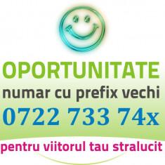 Prefix Vechi - 0722.733.74x - numar usor gold special aur cartela VIP platina