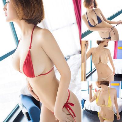 Costum de Baie Mini Reglabil Colours Sexy Sutien Bikini Tanga Lady Lust Micro foto