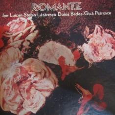 Vinil romante mapa 4 discuri canta doina badea ion luican stefan lazarescu d1