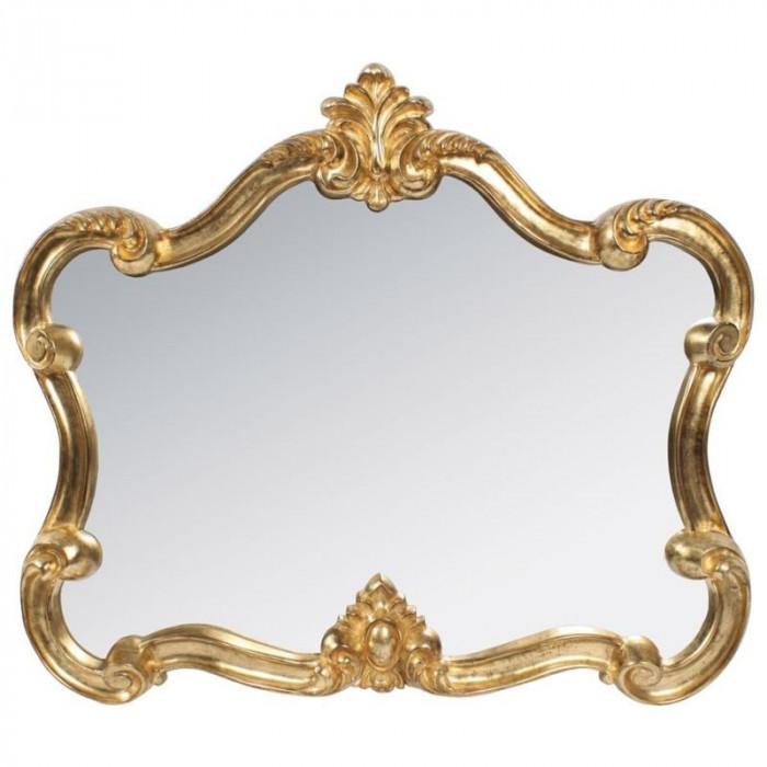 Oglinda din rasina Antique Gold 80x70