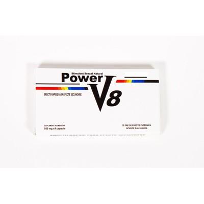 PASTILE POTENTA POWER V8  10 buc ,ERECTIE,EJACULARE PRECOCE,PREMATURA,IMPOTENTA,