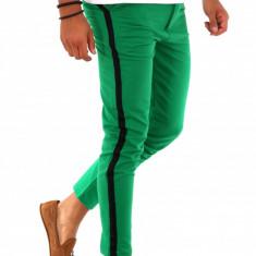 Pantaloni pentru barbati smart casual - verzi- PREMIUM - A1988, Din imagine