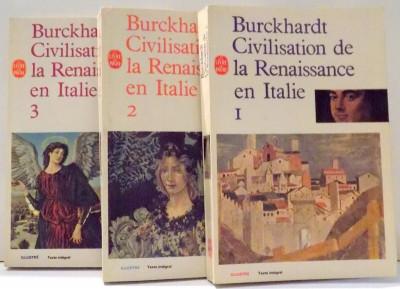 CIVILISATION DE LA RENAISSANCE EN ITALIE par JACOB BURCKHARDT, VOL I-III , 1958 foto