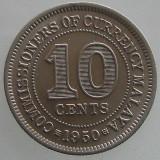 MALAYA KM#8 - 10 CENTS 1950 , KING GEORGE VI, Asia