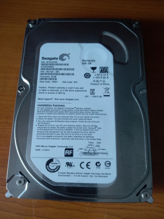 Hard disk 500 GB functionale foto mare