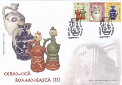 ROMANIA 2005 LP 1677  CERAMICA ROMANEASCA  II  FDC foto
