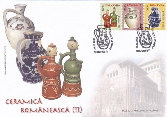 ROMANIA 2005 LP 1677  CERAMICA ROMANEASCA  II  FDC