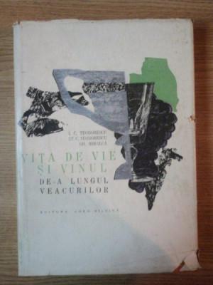 VITA DE VIE SI VINUL DE-A LUNGUL VEACURILOR de I.C. TEODORESCU , ST.C. TEODORESCU , GH. MIHALCA , 1966 foto