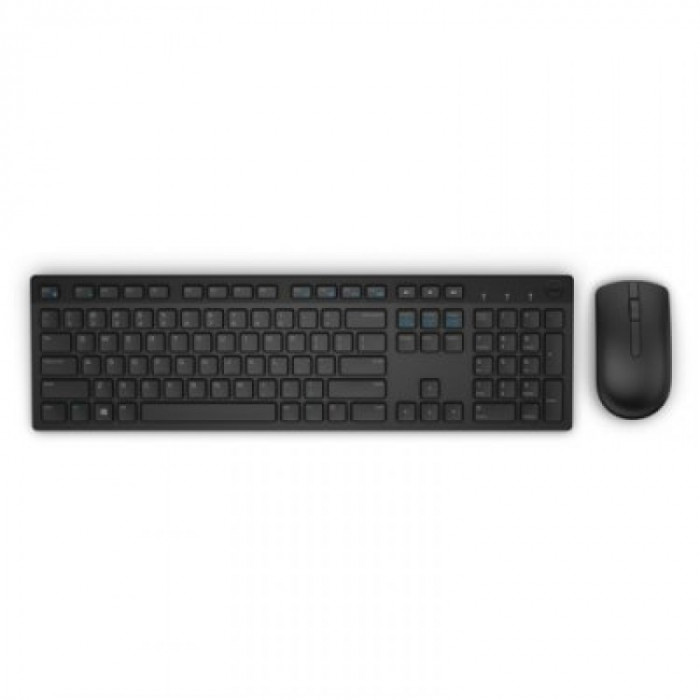 Kit mouse si tastatura Dell KM636 , Fara Fir , USB Receiver , Negru