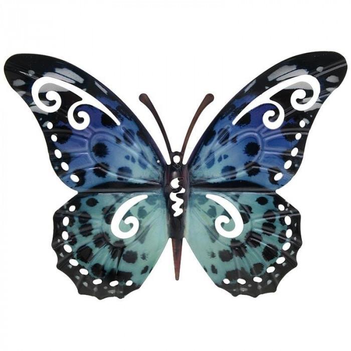 Fluture metalic deco Blue 32 x 31 cm