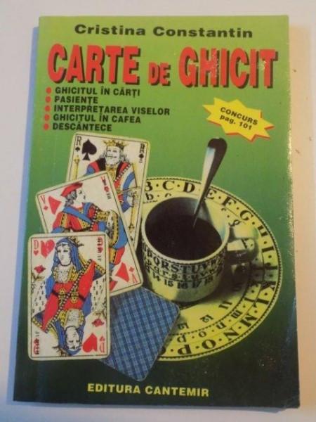 CARTE DE GHICIT de CRISTINA CONSTANTIN,1996 foto mare