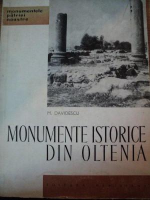 MONUMENTE ISTORICE DIN OLTENIA-M.DAVIDESCU,BUC.1964 foto