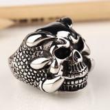 Inel craniu intre gheare otel inoxidabil  gothic motociclisti biker barbatesc