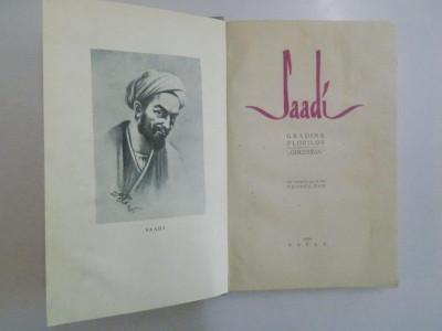 GRADINA FLORILOR de SAADI , 1959 foto