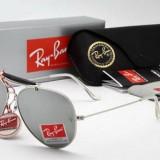 Ochelari Ray Ban Outdoorsman 3029 Rama argintie Lentile oglinda, Unisex, Protectie UV 100%, Metal