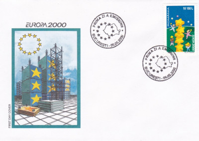 ROMANIA 2000  LP 1512  EUROPA  2000  STELE  SI  COPII  FDC foto