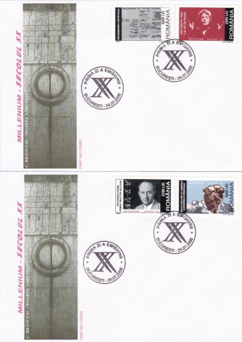 ROMANIA 2000   LP 1521  MILLENIUM - SECOLUL XX -(II)  FDC