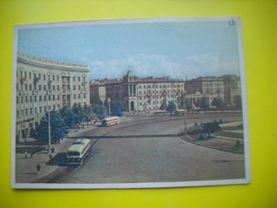 HOPCT  37954  BELERUS MINSK /PIATA KRUGLAIA  IN 1961 -AUTOBUZ-CIRCULATA foto