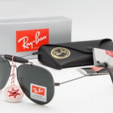 Ochelari Ray Ban Outdoorsman 3029 Rama argintie si Lentile negru, Unisex, Protectie UV 100%, Metal