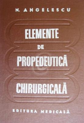 Elemente de propedeutica chirurgicala foto