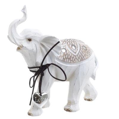 Elefant White rasina 20.5cm x 8.5cm x 21.5cm foto