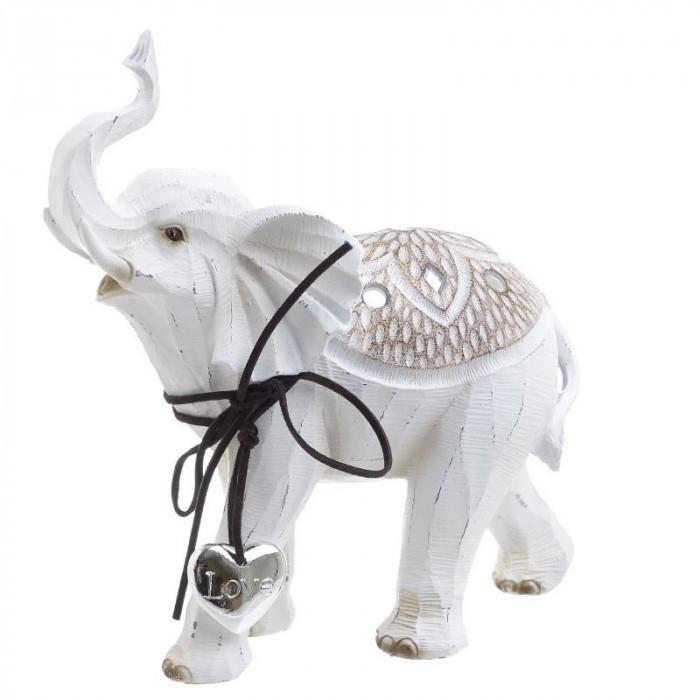 Elefant White rasina 20.5cm x 8.5cm x 21.5cm foto mare