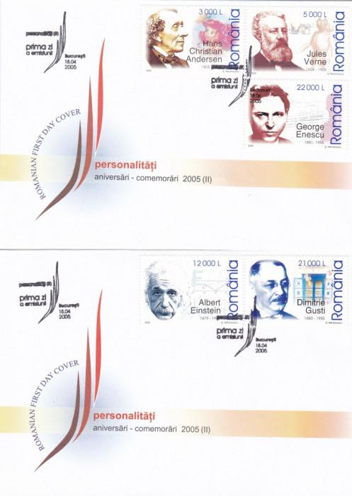 ROMANIA 2005  LP 1681  ANIVERSARI - COMEMORARI - PERSONALITATI  2005  II  FDC