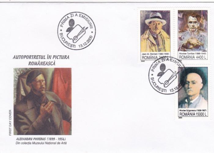 ROMANIA  2000   LP 1536  AUTOPORTRETUL IN  PICTURA  ROMANEASCA  FDC