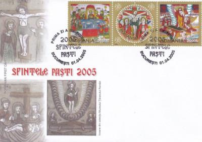 ROMANIA 2005  LP 1679    SFINTELE  PASTI    FDC foto