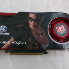 Placa video Sapphire ATI Radeon HD4870 512MB GDDR5 256-bit, PCI Express, 512 MB, AMD
