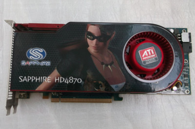 Placa video Sapphire ATI Radeon HD4870 512MB GDDR5 256-bit foto