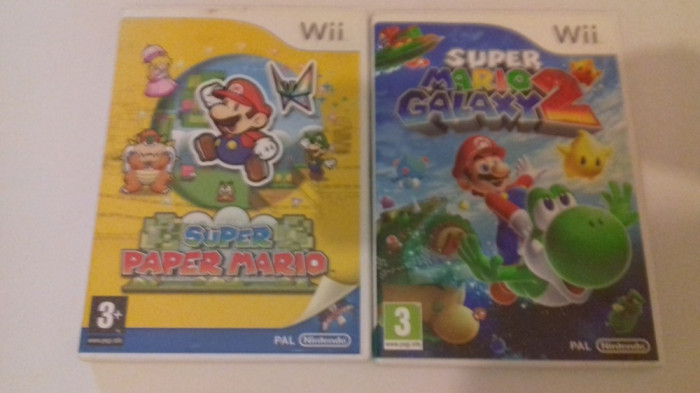 LOT 2 jocuri - Super Paper Mario + Galaxy 2 - Nintendo Wii [Second hand]