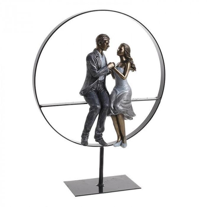 Figurina Cuplu rasina 25X10X34 cm foto mare