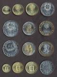 PORTUGALIA █ SET COMPLET MONEDE █ 1+5+10+20+50+100+200 Escudos █ 2000 █ UNC, Europa