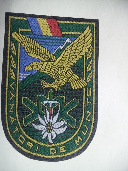 Emblema,Ecuson militar Original VANATORII DE MUNTE,Neutilizata