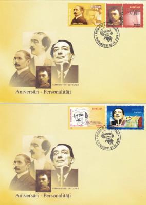 ROMANIA 2004  LP 1649  ANIVERSARI - PERSONALITATI  II  FDC foto