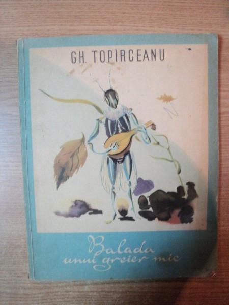 BALADA UNUI GREIER MIC de GH. TOPARCEANU , ILUSTRATII DE GEORGE IUSTER
