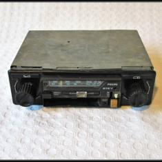 Radio vechi Philips, radiocasetofon auto vintage - defect