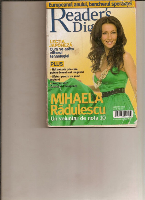 Reader's Digest - ianuarie 2008 foto mare