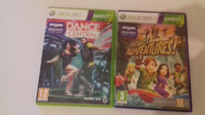 LOT 2 Jocuri  - KInect - Adventures + Dance Central -  XBOX 360 [Second hand] foto