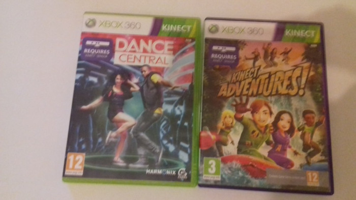 LOT 2 Jocuri  - KInect - Adventures + Dance Central -  XBOX 360 [Second hand]