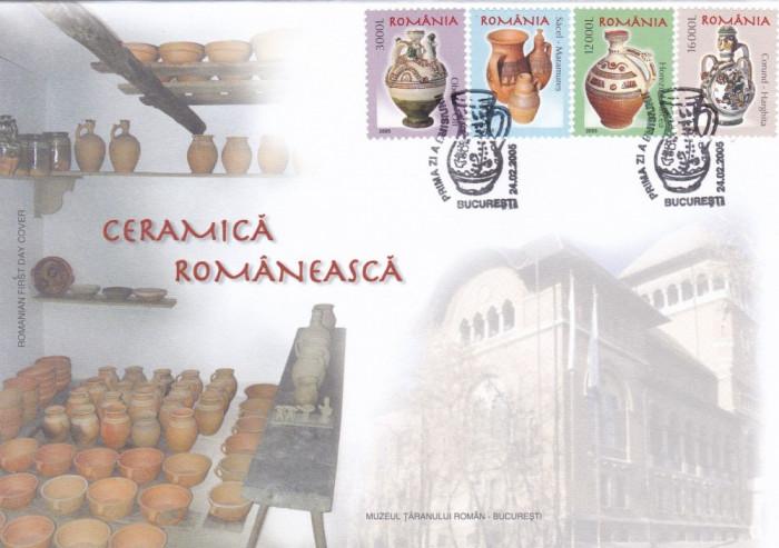 ROMANIA 2005 LP 1674  CERAMICA ROMANEASCA  I  FDC foto mare
