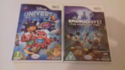 LOT 2 jocuri - Disney Universe + Epic Mickey 2 - Nintendo Wii [Second hand] foto
