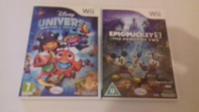 LOT 2 jocuri - Disney Universe + Epic Mickey 2 - Nintendo Wii [Second hand] foto mare