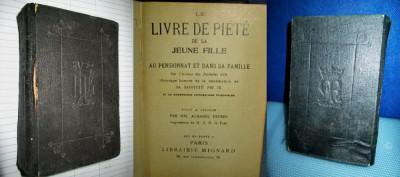 Cartea de pietate a unei tinere fete-Livre de piete de la jeunne Fille 1904. foto