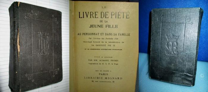 Cartea de pietate a unei tinere fete-Livre de piete de la jeunne Fille 1904. foto mare