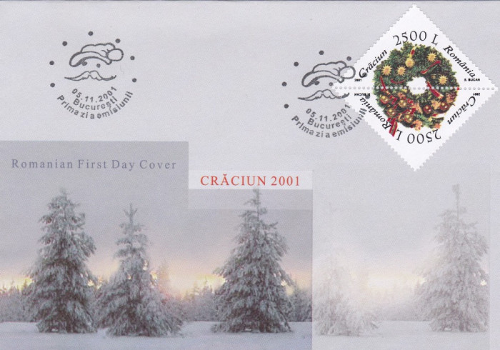 ROMANIA 2001  LP 1573  CRACIUN  FDC foto mare