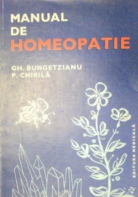 MANUAL DE HOMEOPATIE-GH. BUNGETZIANU,S. CHIRILA 1983 foto