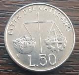 (M608) MONEDA VATICAN - 50 LIRE 1992, Europa