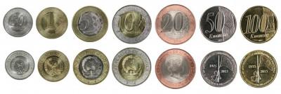 ANGOLA █ SET COMPLET DE MONEDE █ 50 Centimos 1+5+10+20+50+100 Kwanzas 2012 █ UNC foto